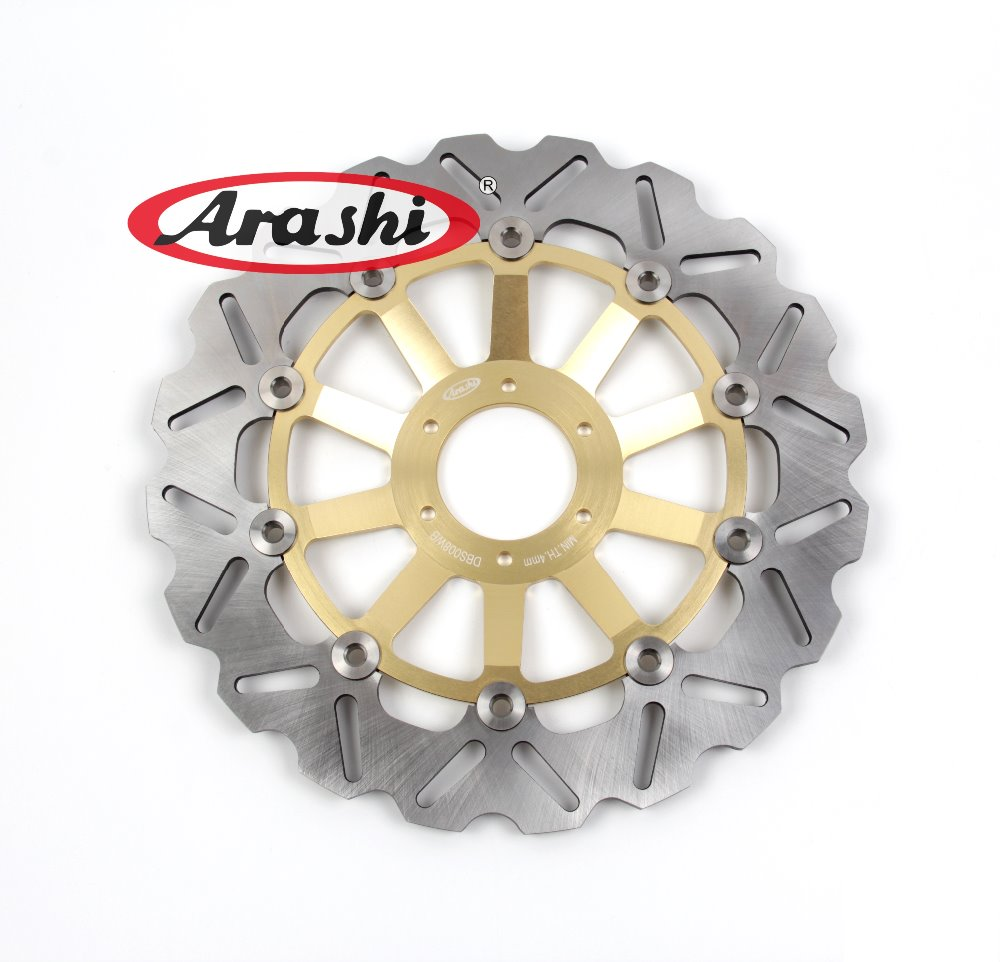 Arashi 1PCS CBR400F2 1985-1987 CNC Floating Front Brake Disc Brake Rotors For HONDA CBR 400 F2 1985 1986 1987 mf2300 f2
