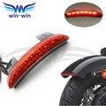 Cor vermelha motortcycle acessórios de plástico ABS LED matrícula tail light fit for harley XL1200N Ferro 883 XL883N Picado