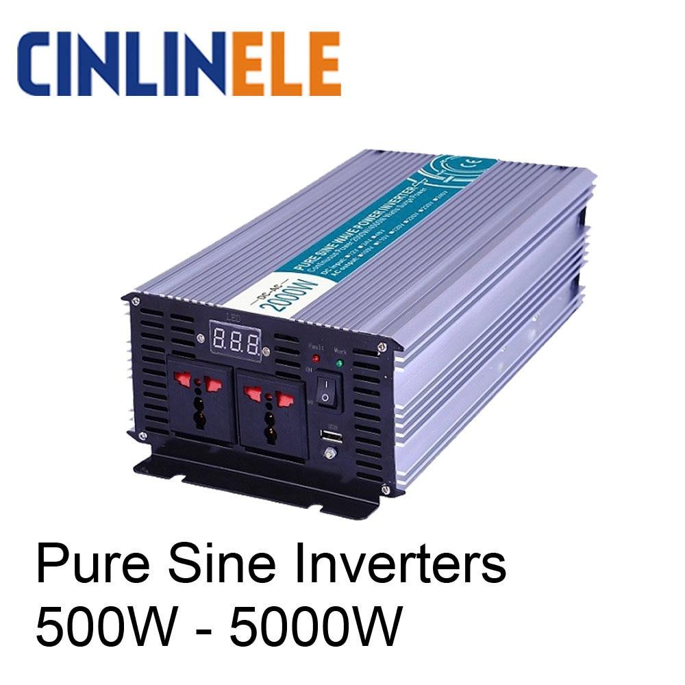 Smart Pure Sine Wave Inverter 12v 220v Solar Power 300W 500W 600W 800W 1000W 1200W 1500W