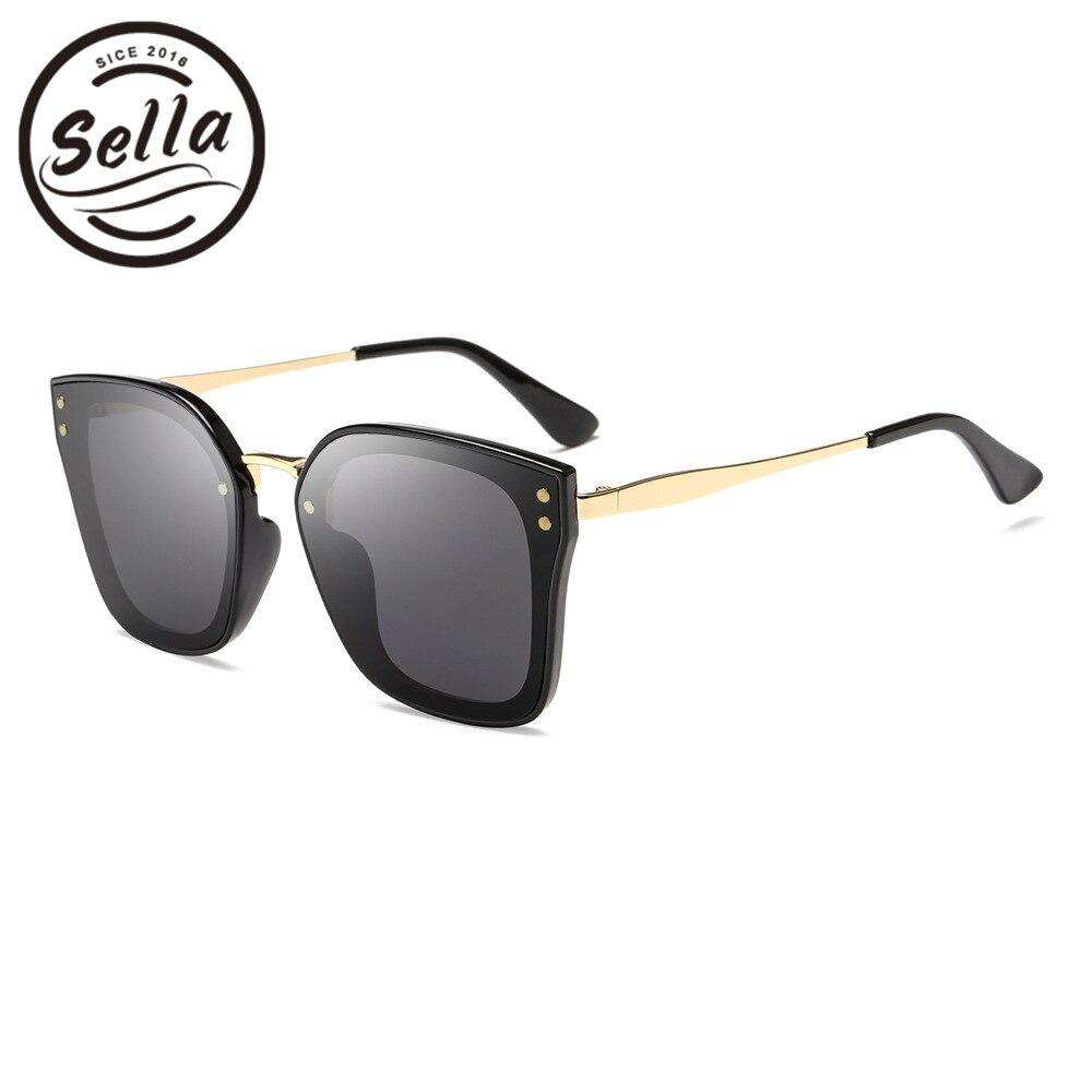 New Fashion Mirror Lens Women Square Sunglasses Brand Designer Film Coating Oversized Ladies Sun Glasses Unique Summer Eyewear