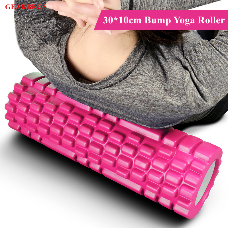 30x10cm Sports Yoga Blocks Foam Roller Muscle Roller Stick Trigger Points Home Gym Pilates Fitness Massage Roller Accessories muscle relaxation massage roller solid fitness yoga roller body leg back muscle trigger point massage stick roller yoga roller