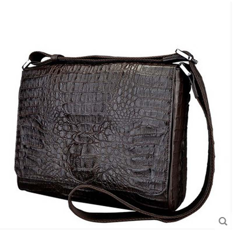 jialante new Crocodile man bag single-shoulder bag business casual briefcase men's crocodile leather men handbags jialante 2017 new lizard leather bag is made of simple small shell bag customized for 15 days