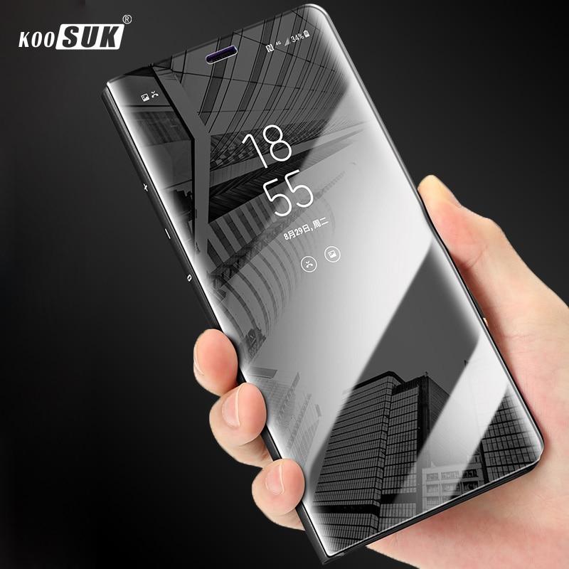 For Samsung Galaxy A5 2017 Case Mirror View Luxury Clear Flip Phone Cover sFor Coque Samsung A5 2017 SM-A520F Shell Fundas Coque(China)