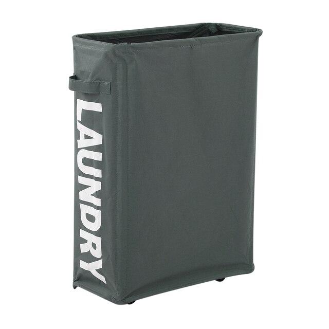 Organizer Box Corner Slim Foldable Oxford Cloth Laundry Basket Bin Mesh  Drawstring Dirty Clothes Storage Hamper