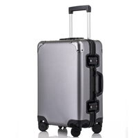New 20'24'26'29'inch Men Rolling Luggage Full Aluminium Trolley Solid Travel 20' Women Boarding Case Carry On Suitcase