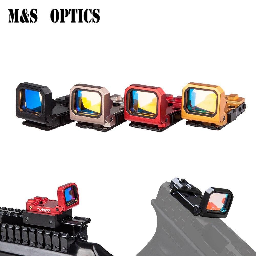 Marcool Pistolet Optique Flip Up Reflex Holographique de Tir Airsoft RMR Mini Objectif Rouge Dot Chasse champ de vision Glock Avec Le Mont