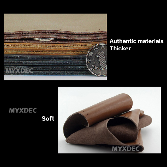 Cubierta del volante cuero de vaca genuino DIY diámetro de la mano de coser 37-39 cm negro gris Beige marrón Wholsale regalos