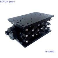 PT-SD409 120 мм ручной лабораторный подъемник для путешествий  оптический подъемник для оси z  ручная оптическая раздвижная подъемная платформа ...