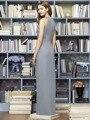 Серое Пятно Длинные Вечерние Платья в Греческом Стиле На Заказ A-Line Maid of honor Платья для Свадеб