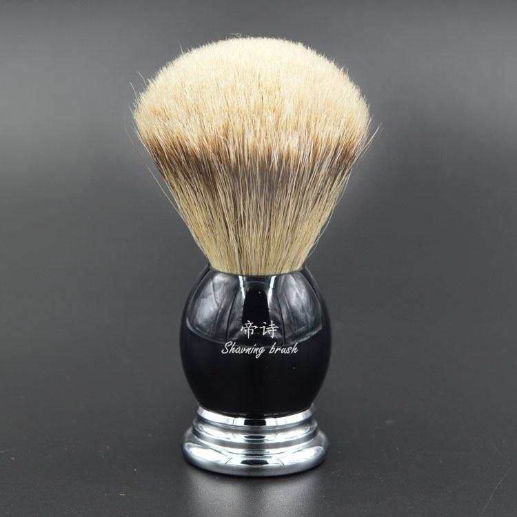 silvertip badger vintage hand-crafted custom shaving brush  professional shaving brush shave barber tool shaving brush comb set natural boar bristle beard brush silvertip badger tooth comb for man gift box barber brush care of b