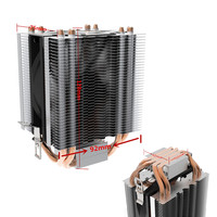 New CPU Heat Sinks LED Dual Cooling Fan CPU Cooler Heatsink Silent Water Cooled Fan For