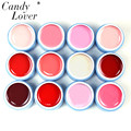 Candy Lover 12pcs/lot Color UV Gel Nail Acrylic Set Pure Mix Colors Nail Art Paint Nail Gel Perfect Hot Sale Colors Can Choose
