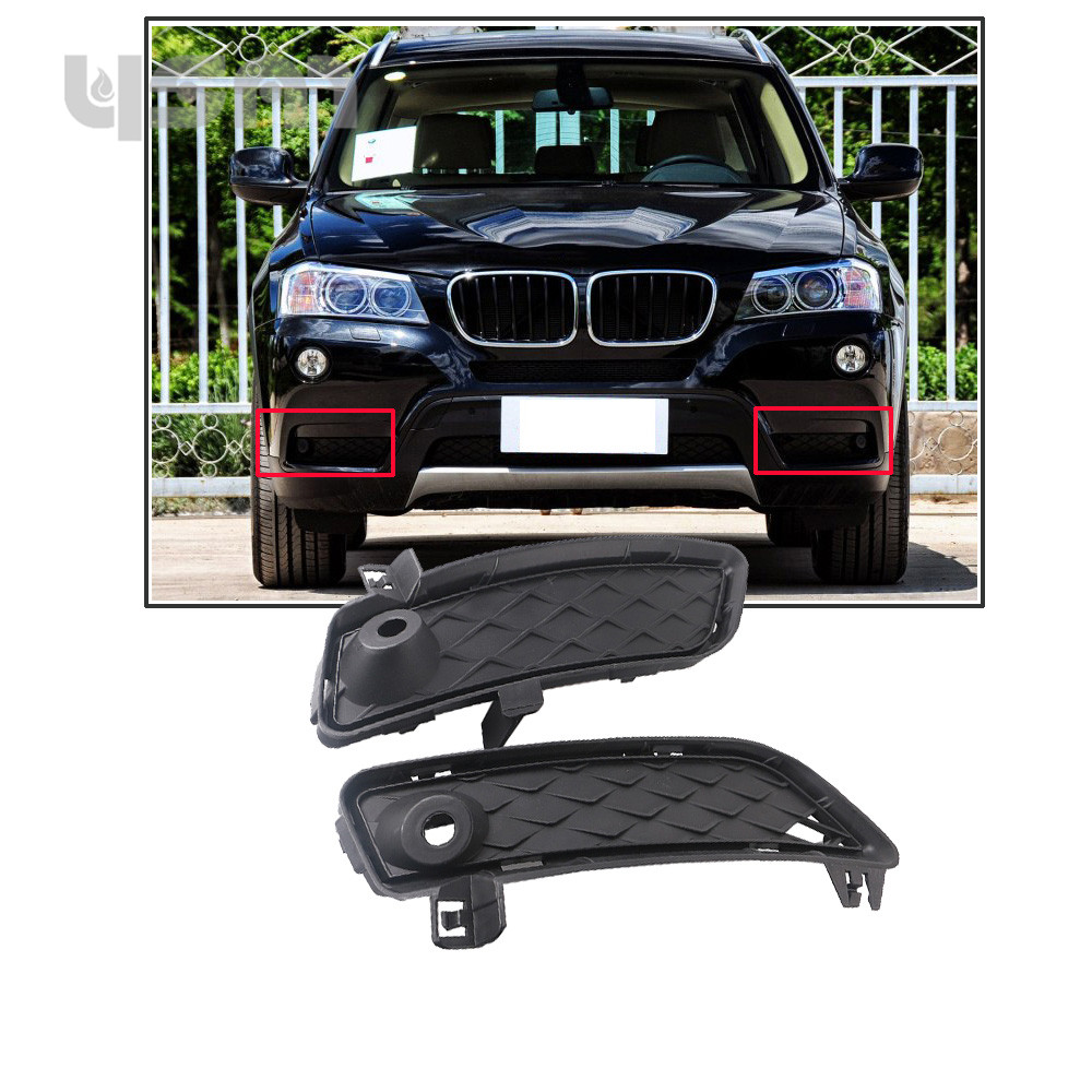 NoEnName_Null Front 1 Pair Bumper Lower Grille 51117249596 For BMW F25 X3 2011 2012 2013 2014 51 11 7 249 596 51 11 7 249 595