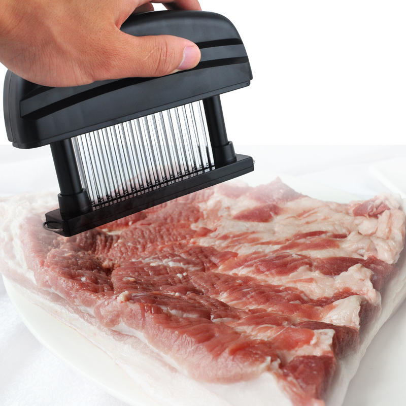 48 Blades Needle Meat Tenderizer Stainless Steel Knife Meat Beaf Steak Mallet Meat Tenderizer Hammer Pounder Cooking Tools ts511a counter top handheld needle meat tenderizer machine tools of manual type