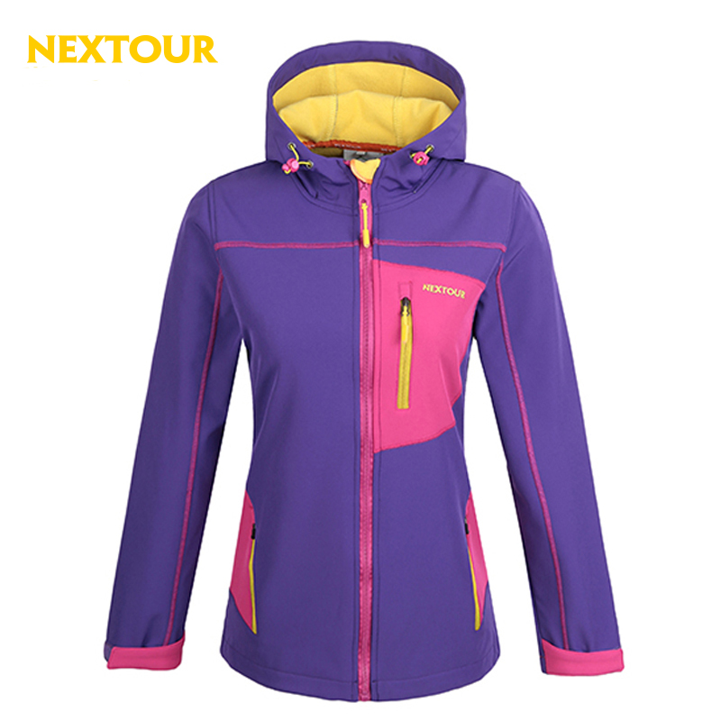 NEXTOUR Outdoor Women Softshell Jacket Waterproof Windproof With Fleece Thermal Antistatic Climbing Hiking Cycling