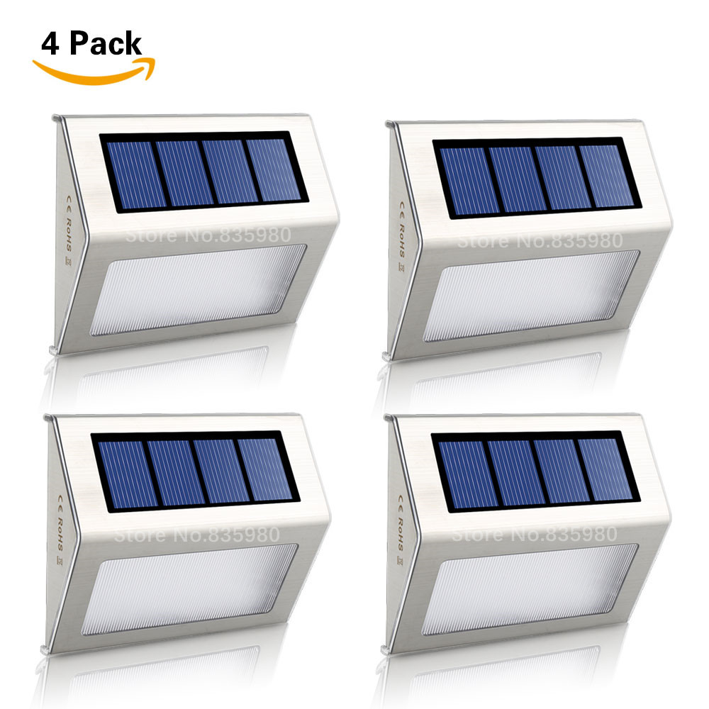 Systematic Solar Power Leds Outdoor Waterproof Garden Street Yard Path Stairs Lamp Energy Saving Led Solar Wall Lamp Wholesale Consumers First 4/pack
