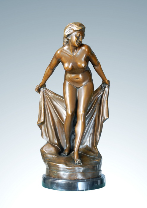 ATLIE BRONZES Classical sculptures western nude maid bronze naked girl sculpture Home Decoration