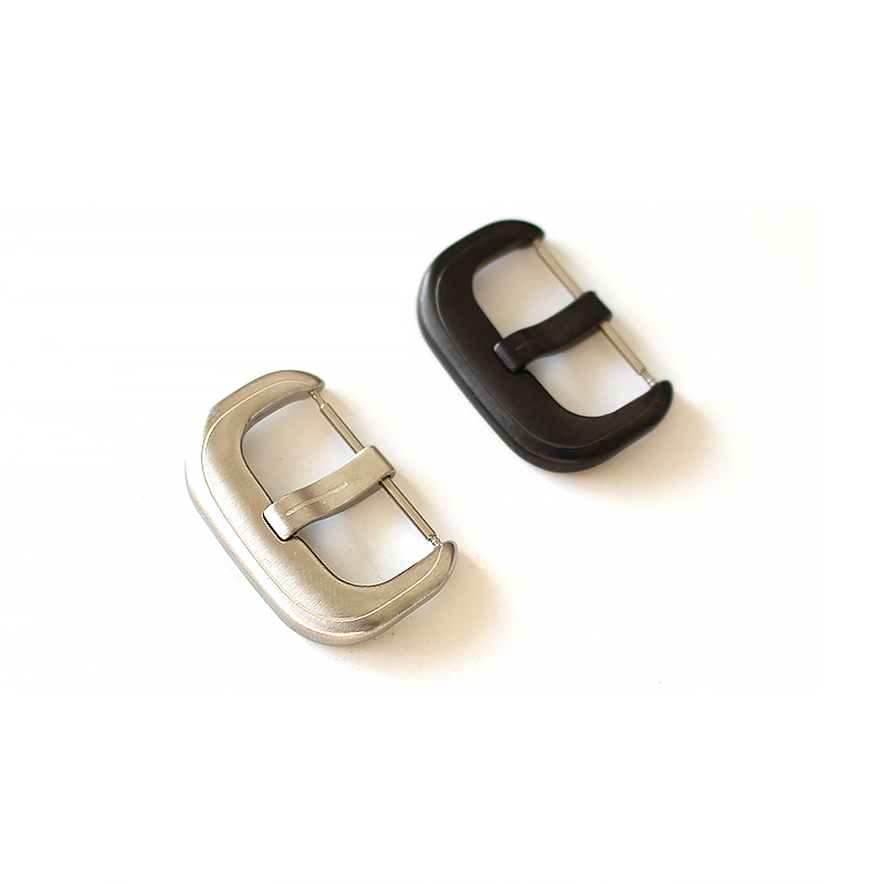 TJP Stainless Steel 24mm Silver Black Buckle For Seven Friday Watch