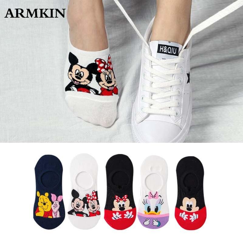5Pairs/Lot Summer Cartoon Cat Fox Rabbit Socks Cute Animal Women Socks Funny Ankle Socks Ladies Cotton Invisible Socks Dropship(China)