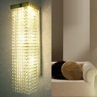 אורות קיר K9 קריסטל מודרני אופנה מנורות תאורת מראה בר סלון מנורת קריסטל אור קיר מנורות קיר אישיות אופנה