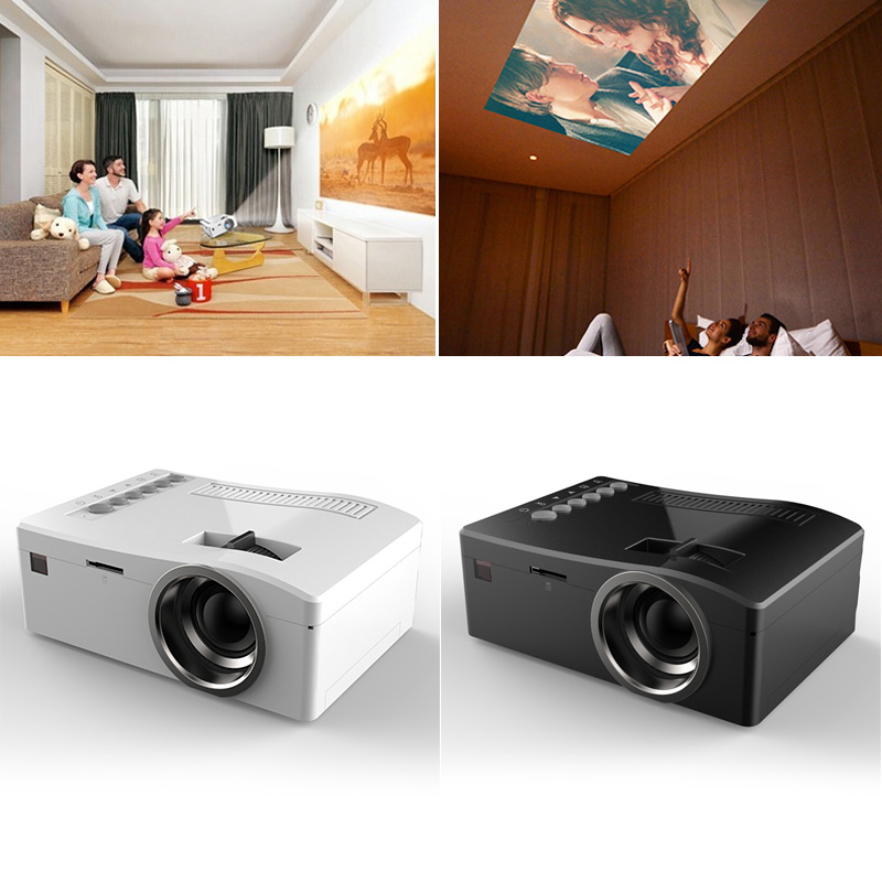 Portable 1080P Home Theater Mini LED Multimedia Video Projector PC USB TV TF HDMI Proyector Beamer CX88 mini portable multimedia player dvd player home theater projector led proyector