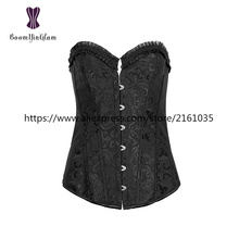 822# Everyday Corsage modeling strap Slimming Appliques Shapewear XS-6XL ruffled wedding corsets steel boning corselet