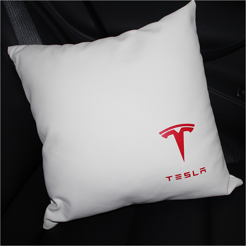 2019 New Car Pillow Neck Lumbar Back Cushion Pillow Lumbar Support Office Home Seat For Tesla MODEL S MODEL X MODEL 3 MODEL Y