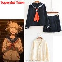 Mój Hero Academia Himiko Toga Kostium Japoński Anime Cosplay Kostium School Girl Uniform Sweter JK Sweter Ubrania