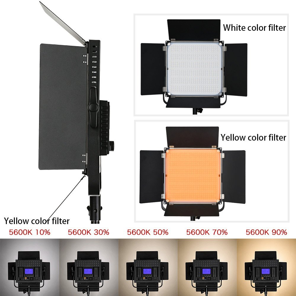 INSEESI IN-204 Photographic Camera Video Light Or Pixel K80 Professional LED Outdoor Photo Wedding Film Photography Video Light