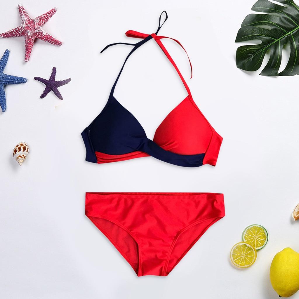 7 цветов, женский бюстгальтер пуш-ап с подкладкой, танкини, набор бикини, купальник с низкой талией, купальный костюм, купальник из двух частей, пляжная одежда