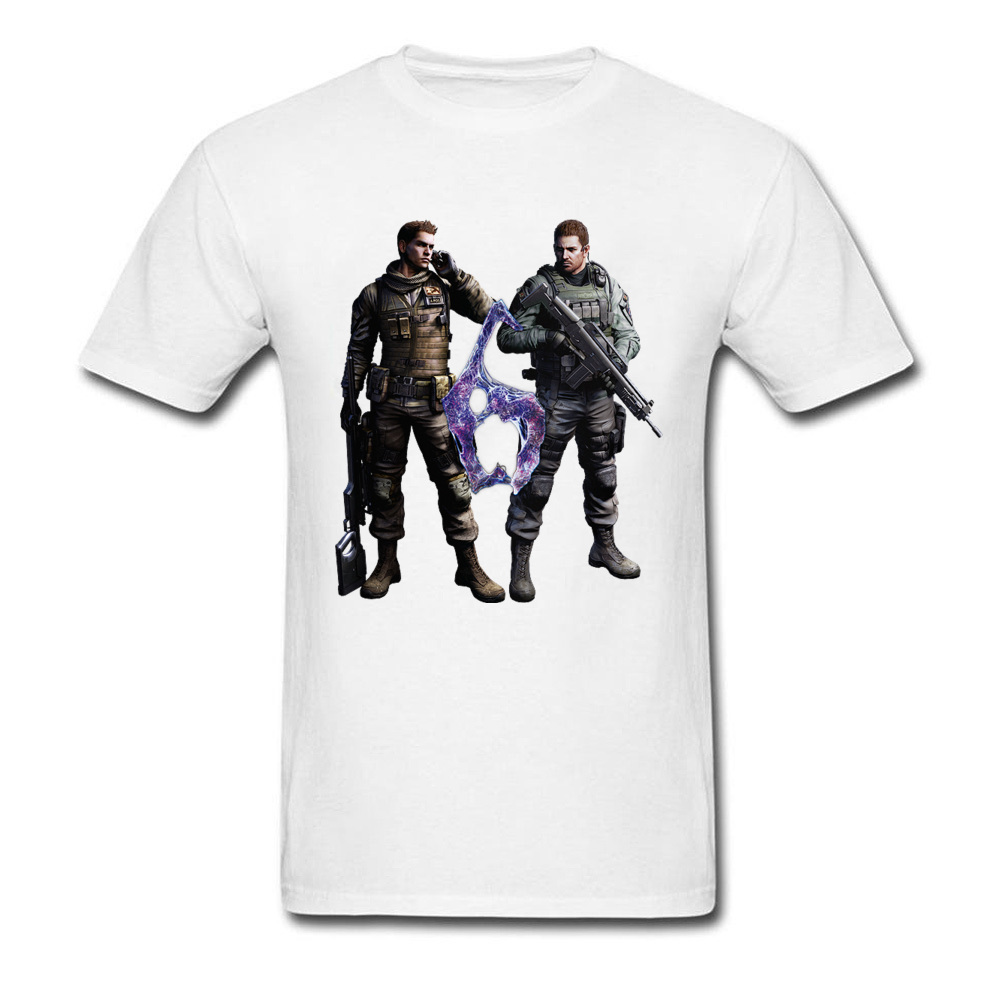 2018 Fashion Trends Tees Resident Evil Chris And Piers Men T Shirt Cotton Fabric Round Collar Men Top T-Shirt New Listing Tshirt