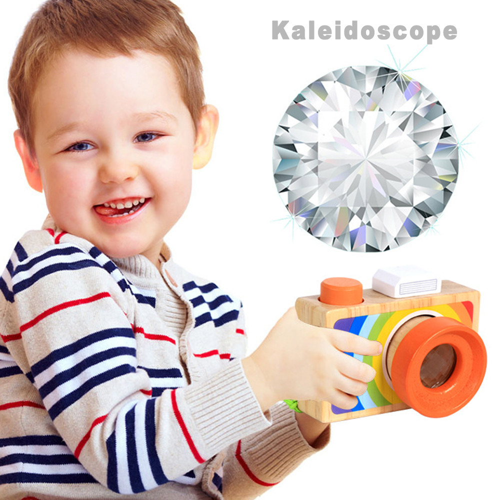 Children Camera Model Classic Kaleidoscope Toys Pretending Toys My First Camera For Kids Play Kaleidoscope Picture Lens New Red