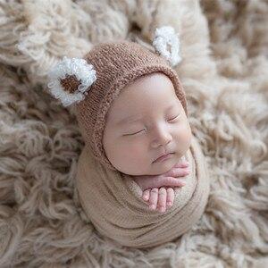 Image 3 - ライトピンクギリシャウール Flokati Natural Chunky カーリーウール毛布新生児ポーズ背景生地ヴィンテージ女の赤ちゃんの毛皮小道具