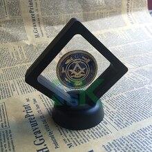 Масоны Позолоченные масонские символы Великолепная монета красочная монета с черно-белым пвх воздушным дисплеем коробка для подарка