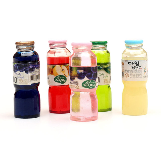 20-8Pcs 3D Resin Bottle Cabochon Crafts Embellishments For Fairy Garden Figurines & Miniatures Home Decoration Accessories Diy 4