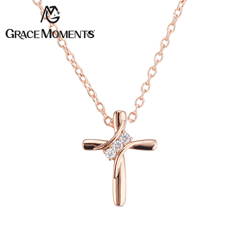 Grace Moments 19*24mm Crystal Cross Pendant Necklace Christmas Gifts Luxury Jewelry for  ...