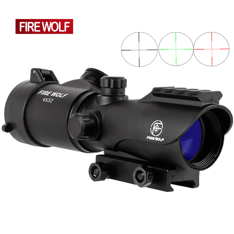 Tactical 4X32 LER Red Dot Sniper Scope Airsoft Sight Riflescope Rifle Scope for Hunting Shooting whole sale hot sale new 5x tactical airsoft periscope rifle scope for airsoft hunting shooting