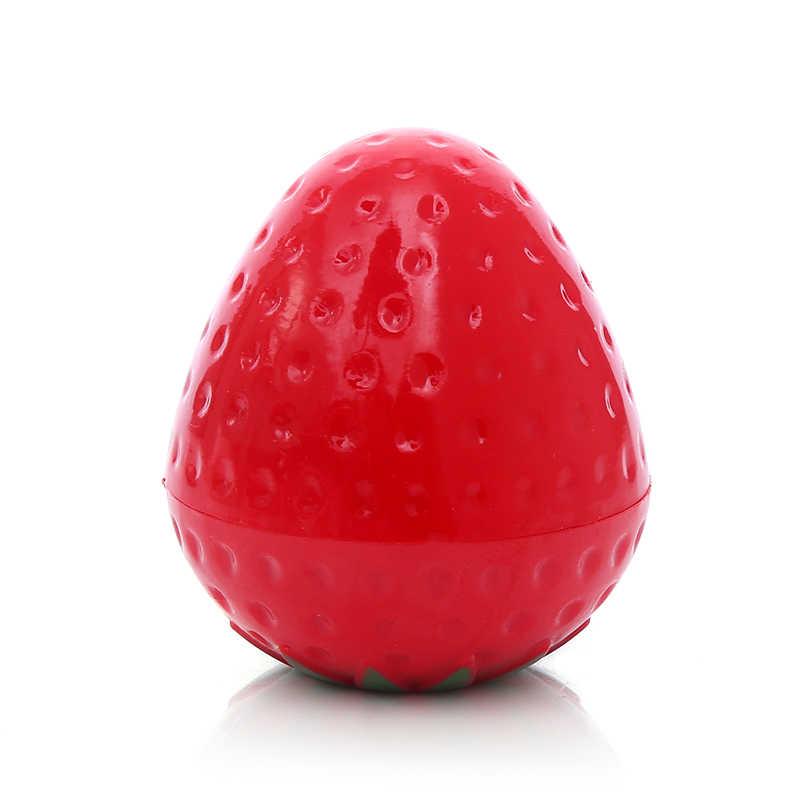 1 מחשב נייד צורת תות חמוד לחות שפתון איפור קוסמטי כדורי שפתון איפור מזין שפתיים טיפול TSLM1