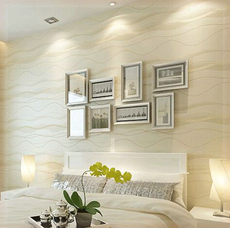 Non Woven Beigh Black Stripe Modern Wallpaper Tv Background Wall Coverings Papers Home
