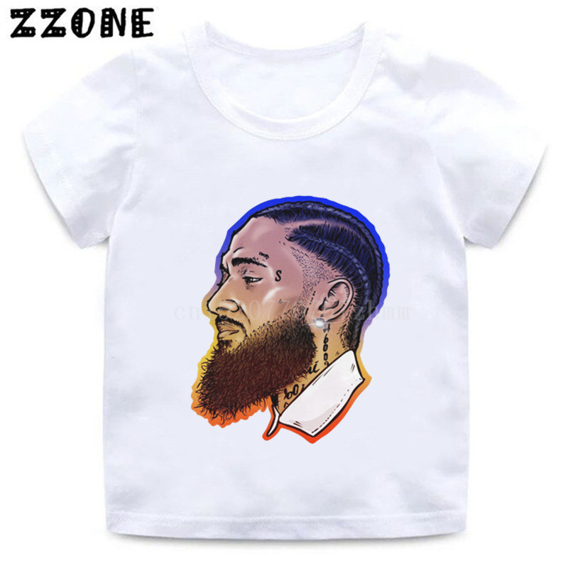 Boys/girls Rapper Lil Peep Nipsey Hussle Print T Shirt Kids Hip Hop Casual Clothes Children Summer O-neck Baby T-shirt,hkp5280