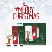 3Pcs Christmas Hand Cream Set Moisturizing Nourishing Skin W