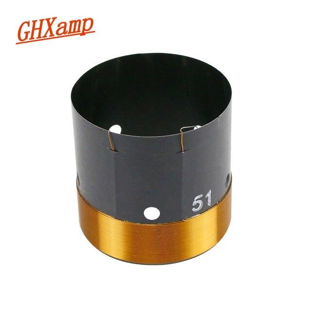 GHXAMP 51mm Bas Ses Bobini Woofer 8ohm Onarım Parçaları Havalandırma deliği Ile 2 katmanlı Yuvarlak Bakır Tel 200  280W 1 adet