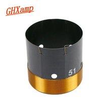 Peças de reparo do woofer 8ohm da bobina de voz do baixo de ghxamp 51mm com furo do respiradouro fio de cobre redondo de 2 camadas 200 280 w 1pc