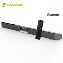HYASIA беспроводной динамик звуковая панель с Bluetooth Встроенный сабвуфер светодиодный дисплей громкий динамик домашний кинотеатр звуковая система AUX Саундбар