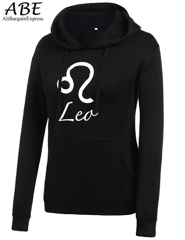 Новые Моды для Женщин Шнурок С Капюшоном С Длинным Рукавом Письмо Печати Пуловер С Капюшоном