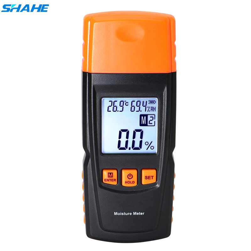 SHAHE Digital Moisture Meter 2~70% Wood Moisture Meter Hygrometer Humidity Tester Timber Damp Detector LCD Display