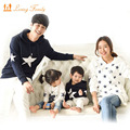 Family clothing sets autumn and winter cotton star hoodie active mother and daughter clothes Family Matching Outfits