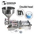ZONESUN Double têtes Machine de remplissage automatique pneumatique trémie crème shampooing hydratant Lotion miel pâte alimentaire