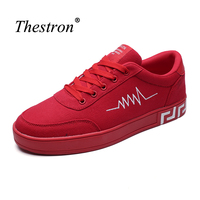 Thestron Men Platform Sneakers Autumn Boys Skate Board Shoes Gray Red Athletic Adult Footwear Lace Up