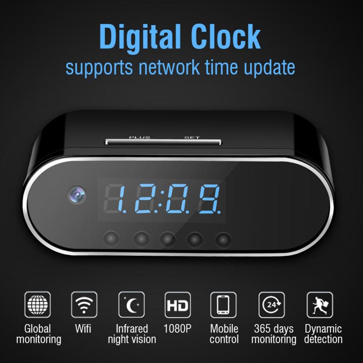 Image 2 - New 1080P HD Clock Camera WIFI Control Concealed IR Night View  Alarm Camcorder PK Z16 Digital Clock Video Camera Mini DV DVRMini  Camcorders